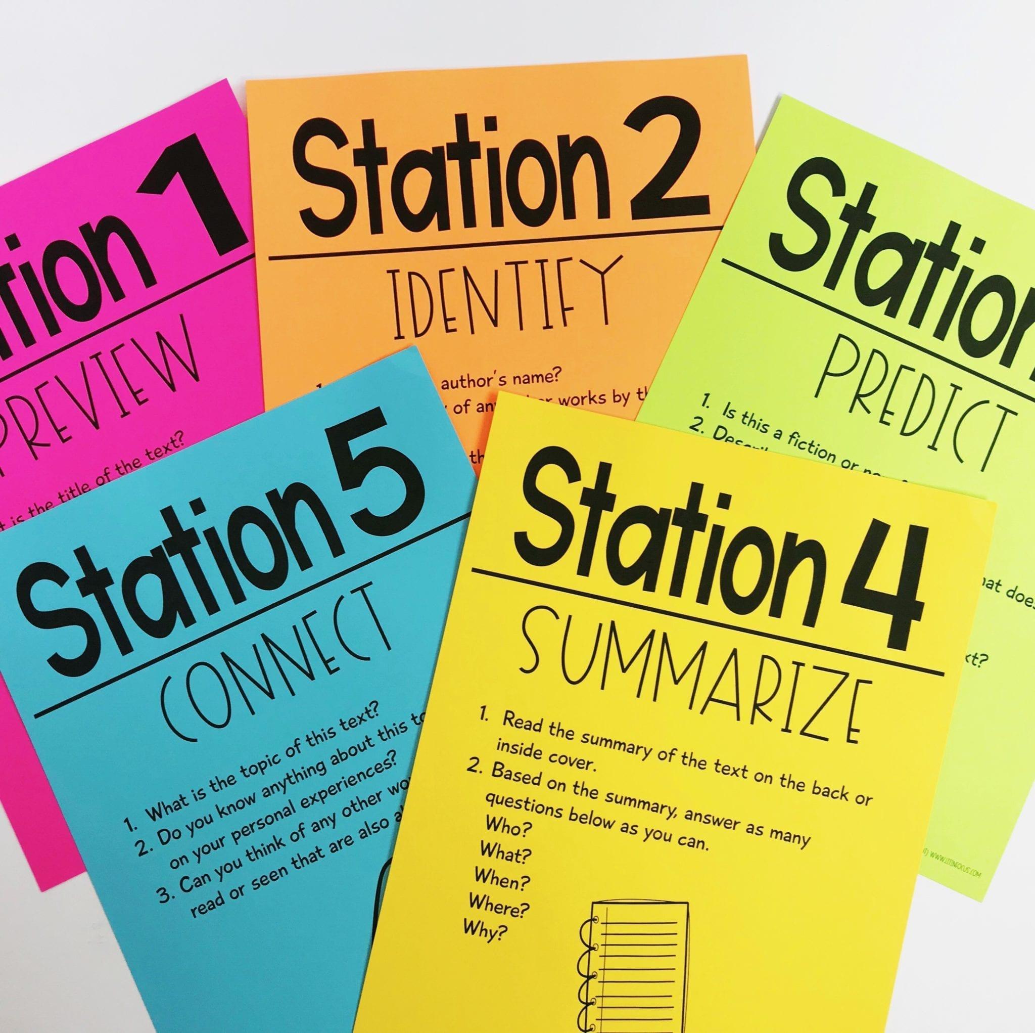 Novel Pre-Reading Stations