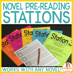 Novel Pre-Reading Stations Cover Image