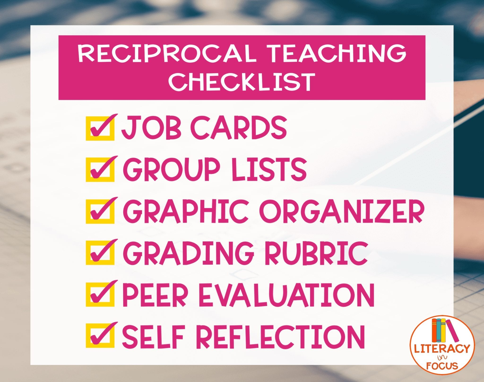 Reciprocal Teaching Checklist