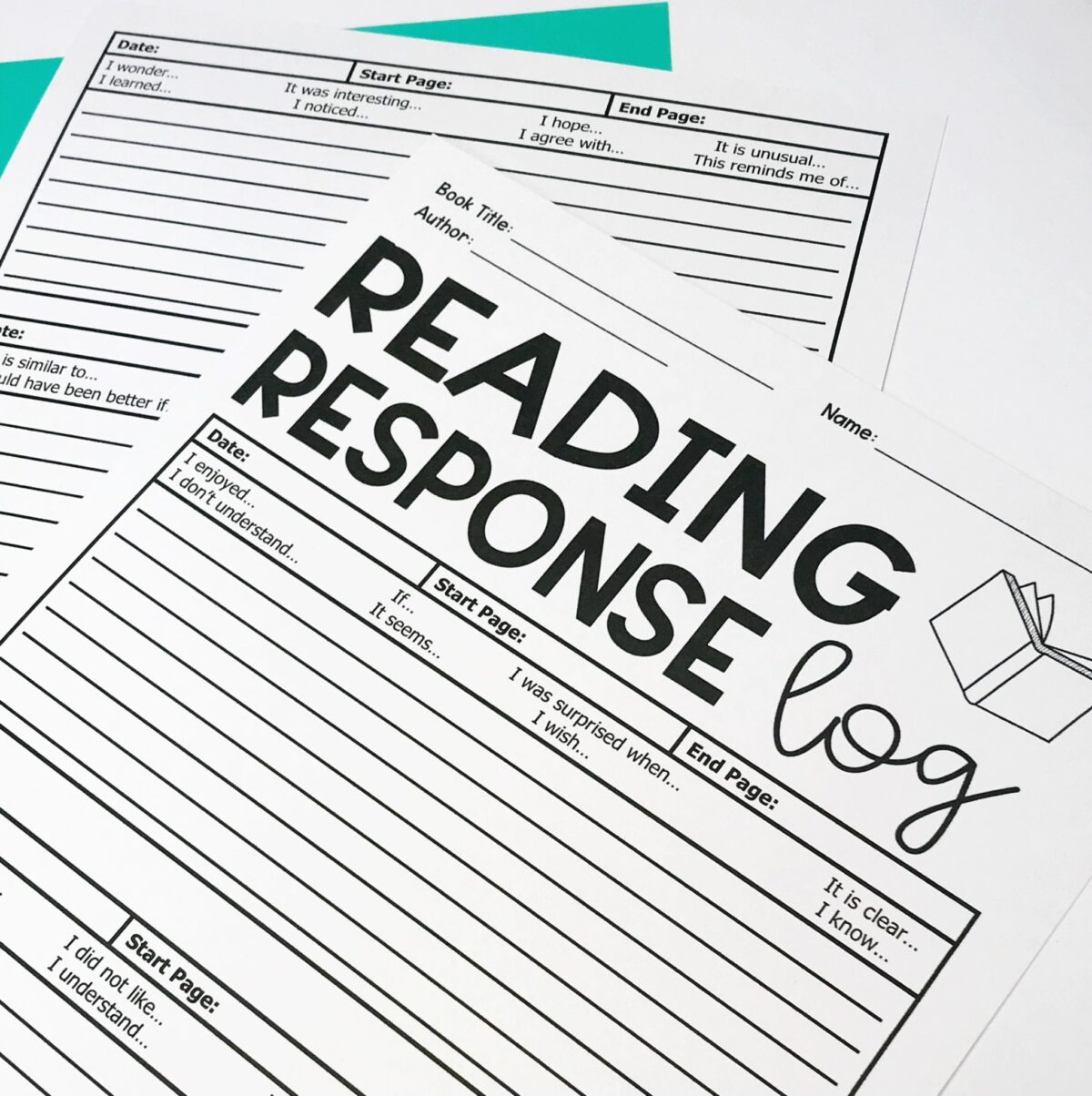 Reading Response Summary Worksheet