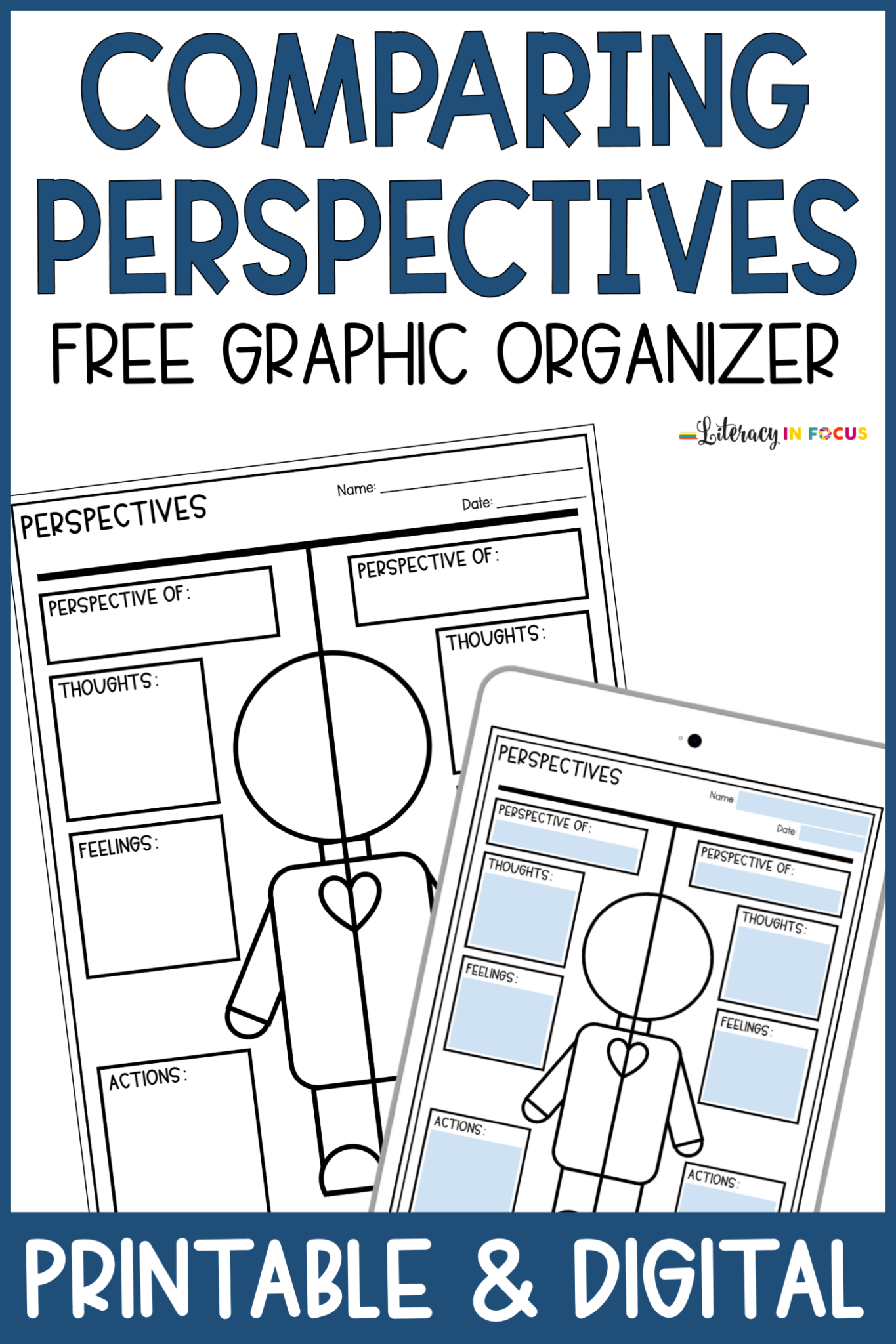 Free Printable and Digital Comparing Perspectives Graphic Organizer