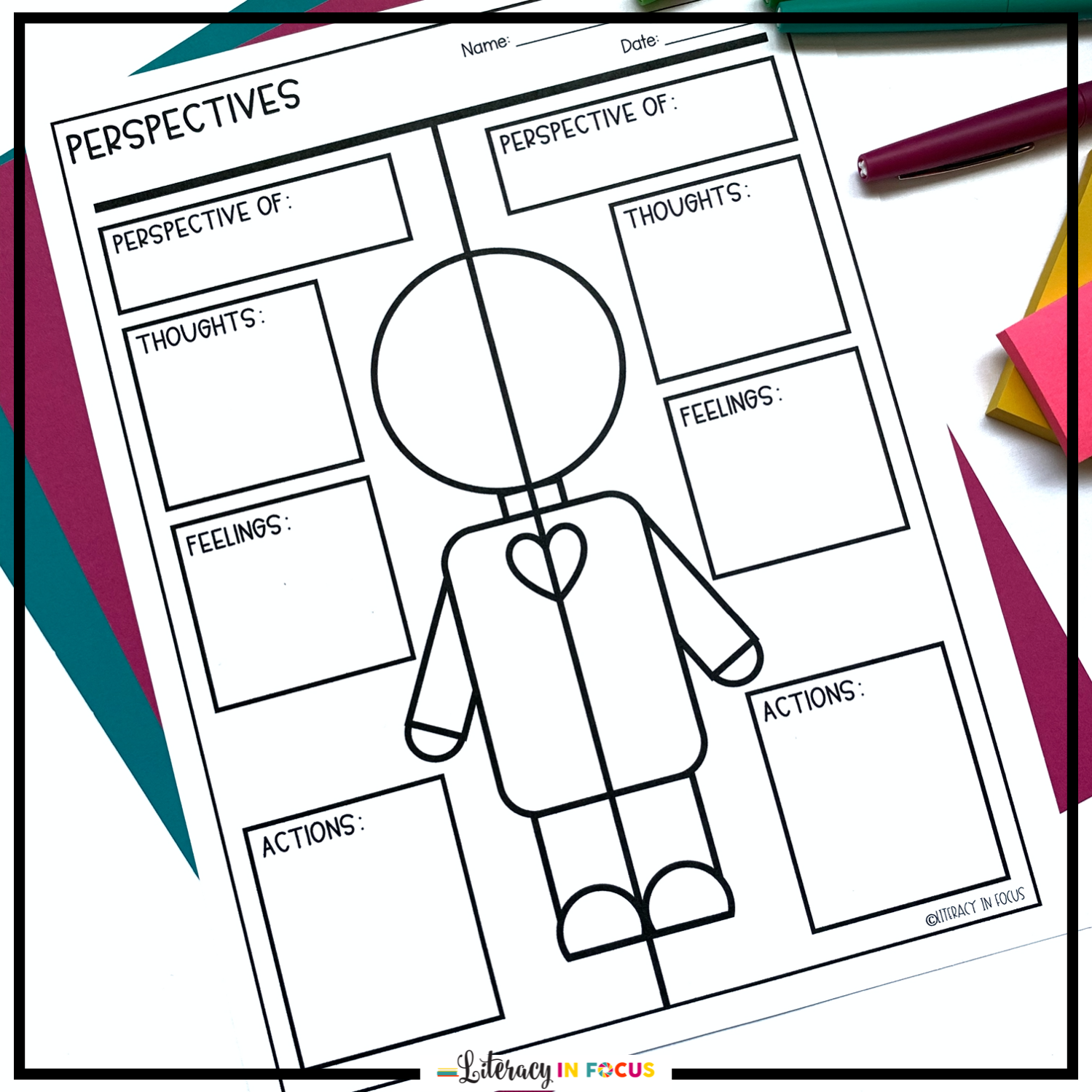 Comparing Perspectives Free Printable Graphic Organizer