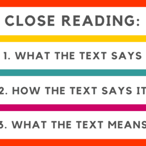 Close Reading Steps
