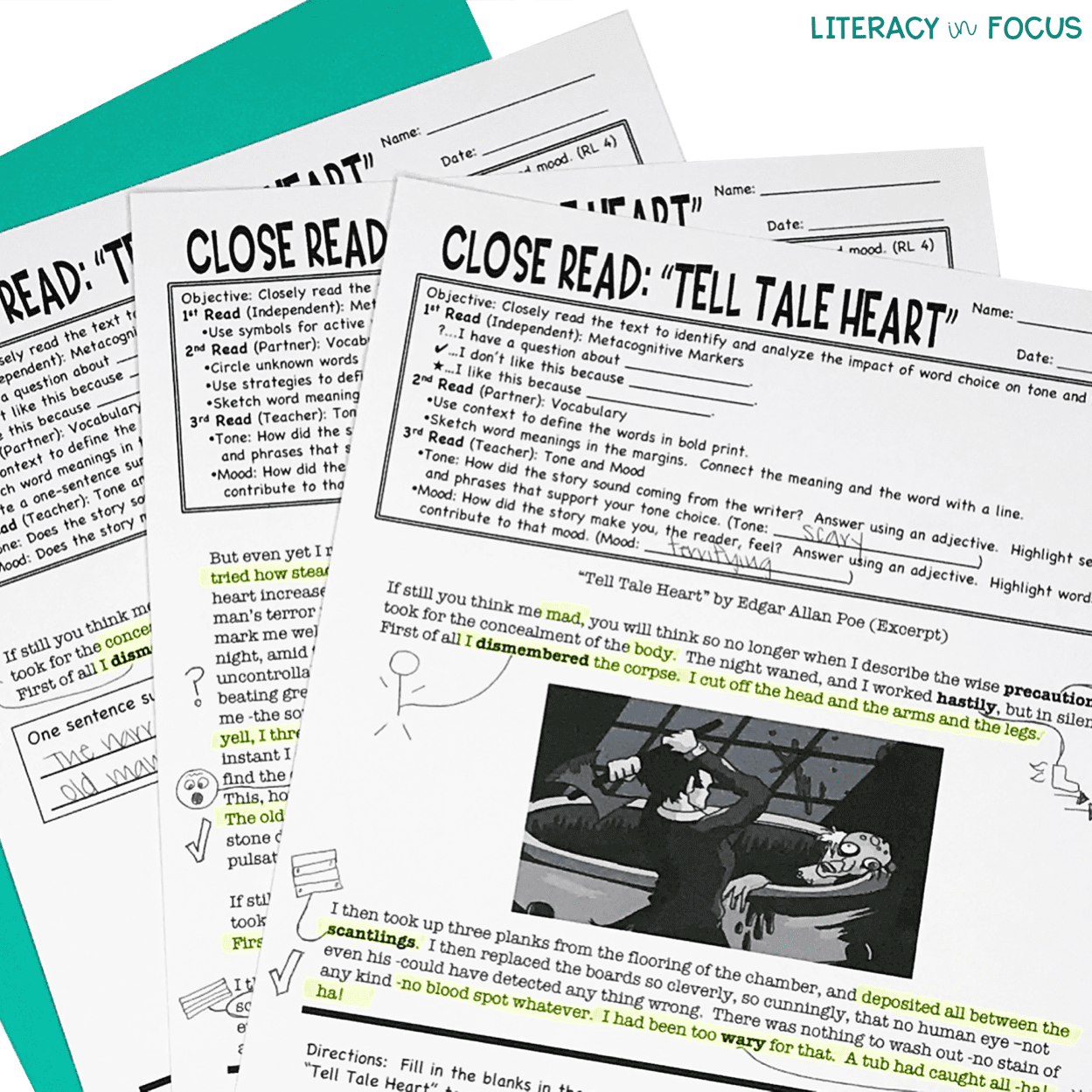 Tell Tale Heart Close Reading Lesson