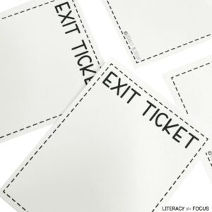blank exit ticket