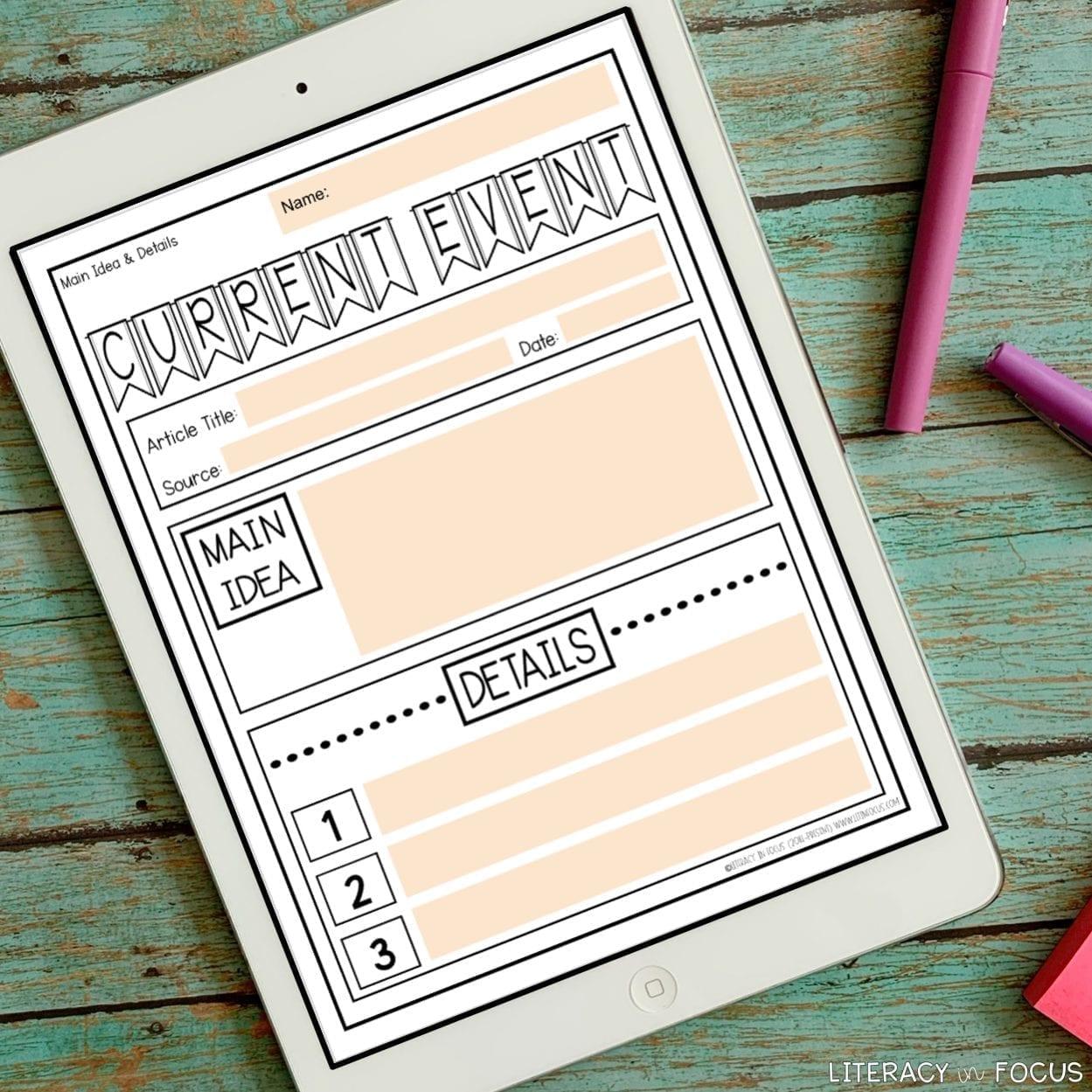Digital Current Event Report