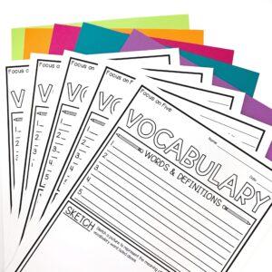 Vocabulary Activity Templates