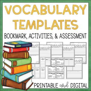 Vocabulary Activity Templates