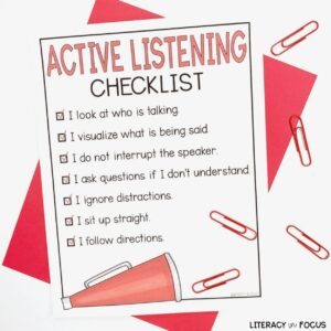 active listening checklist