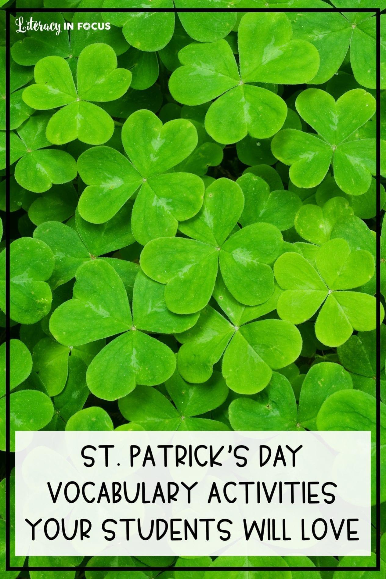 St. Patricks Day Vocabulary Activities