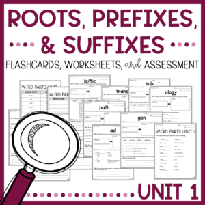 Greek and Latin Roots, Prefixes, and Suffixes