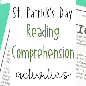 St. Patrick's Day Reading Comprehension Lesson