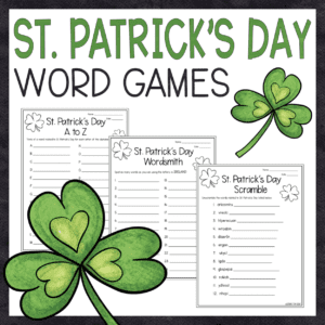 Free St. Patrick's Day Word Games
