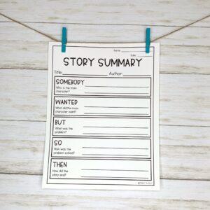Story Summary Worksheet