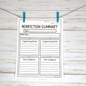 NonFiction Summary Worksheet