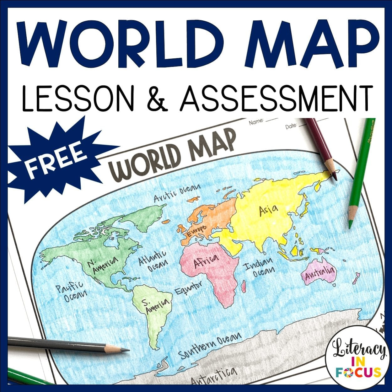World Map Activity and Assessment