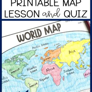 Free World Map Lesson