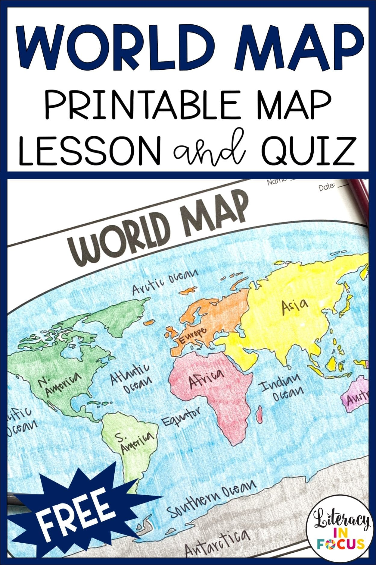 Free World Map Lesson