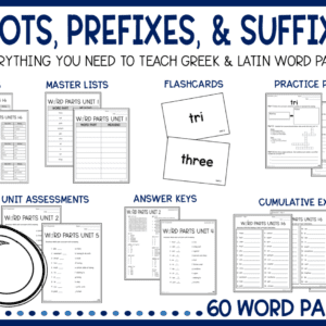 Greek and Latin Roots and Affixes Unit