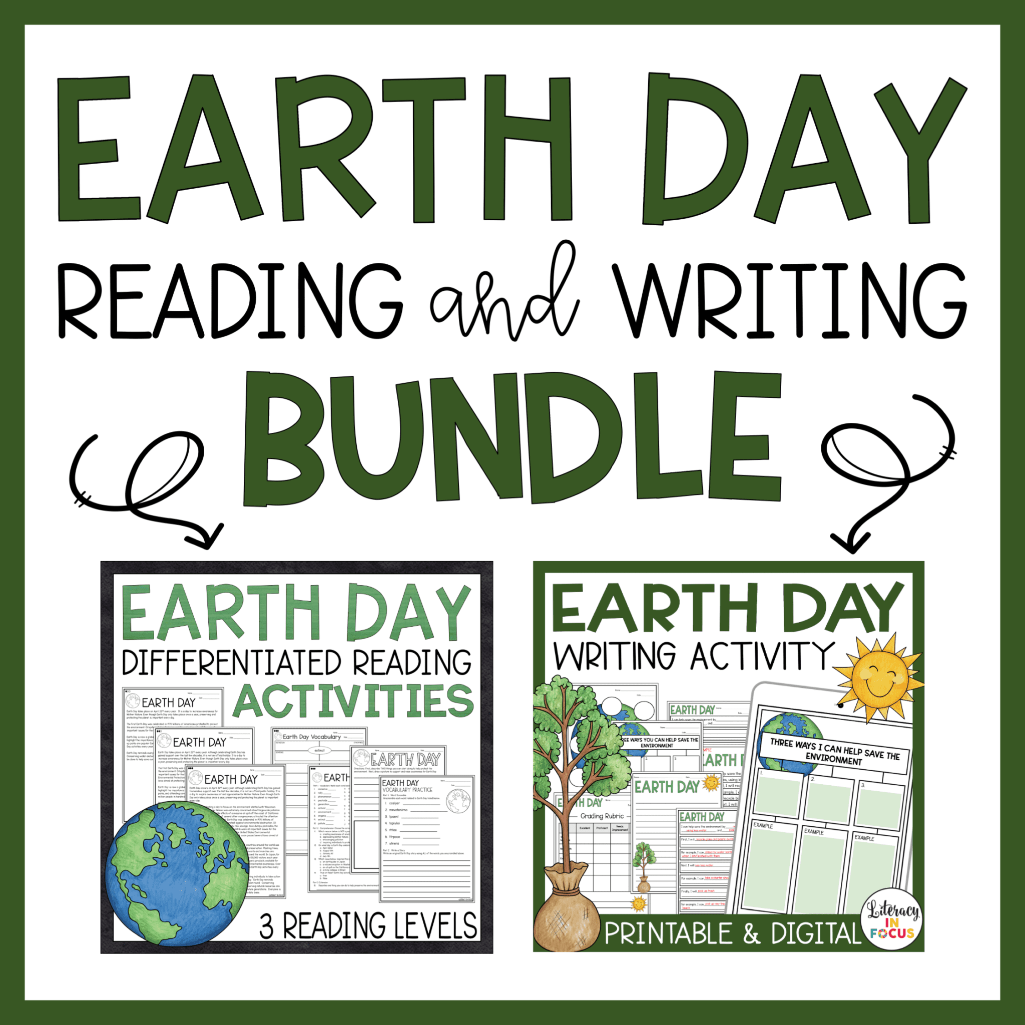 Earth Day Reading and Writing Activities