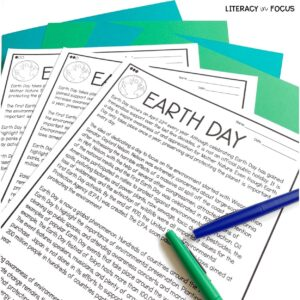 Earth Day Close Reading
