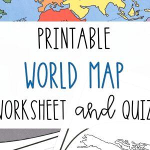 Printable World Map Worksheet