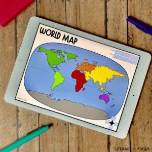 World Map Activity Digital Google Classroom
