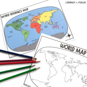 World Map Activity and Quiz