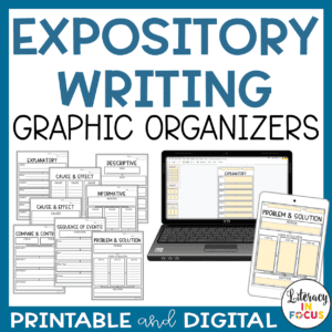 Expository Writing Graphic Organizers