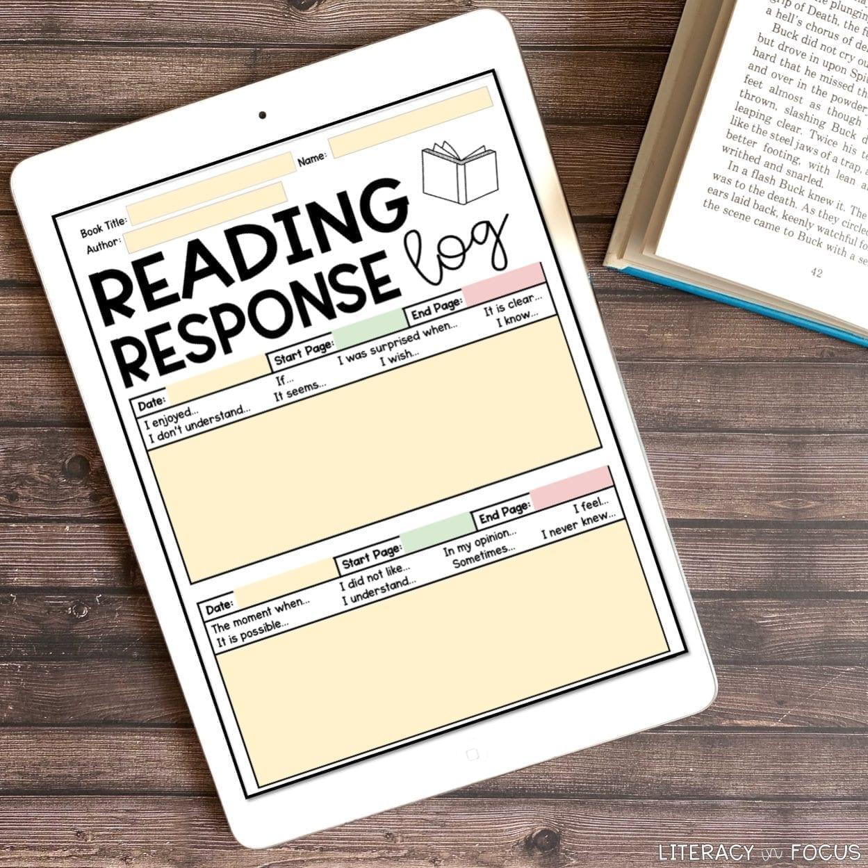 Digital Reading Response Logs