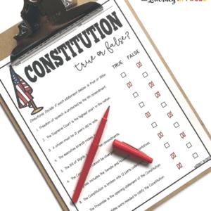 Constitution Free Printable