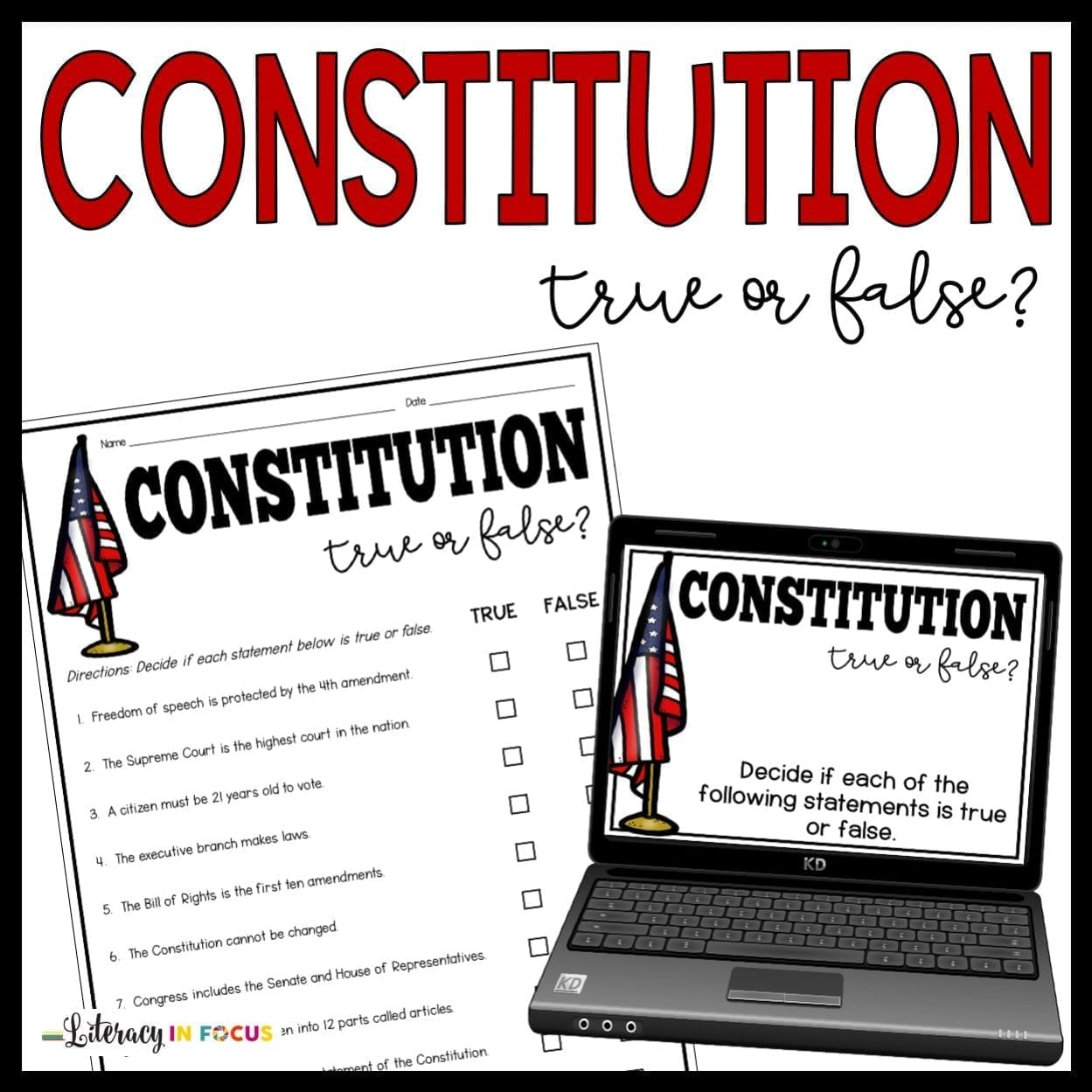 Constitution Free Printable