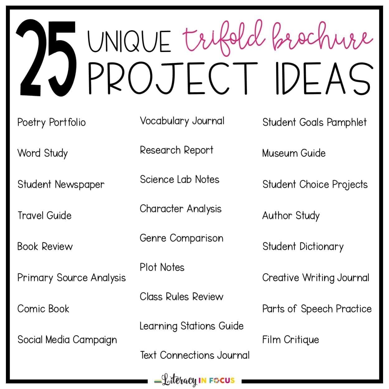 25 trifold brochure ideas