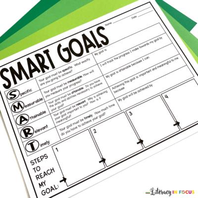 SMART goals graphic organizer