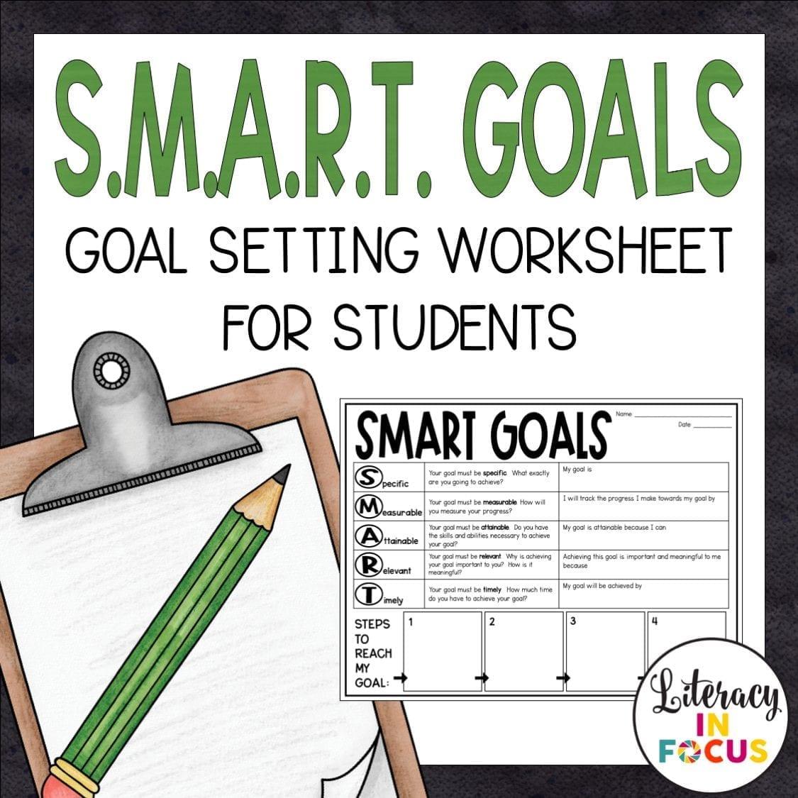 SMART Goals Free Worksheet