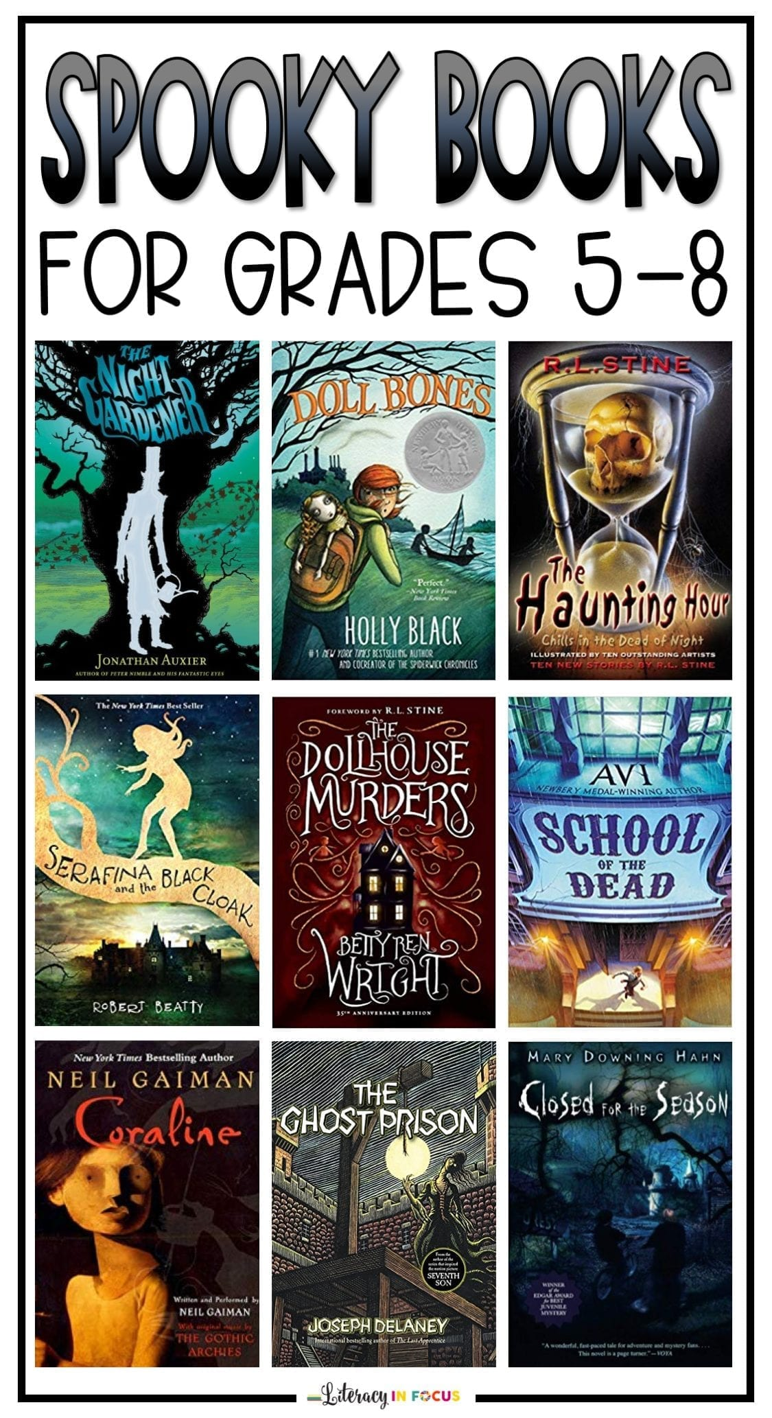 Spooky Books for Middle School Students