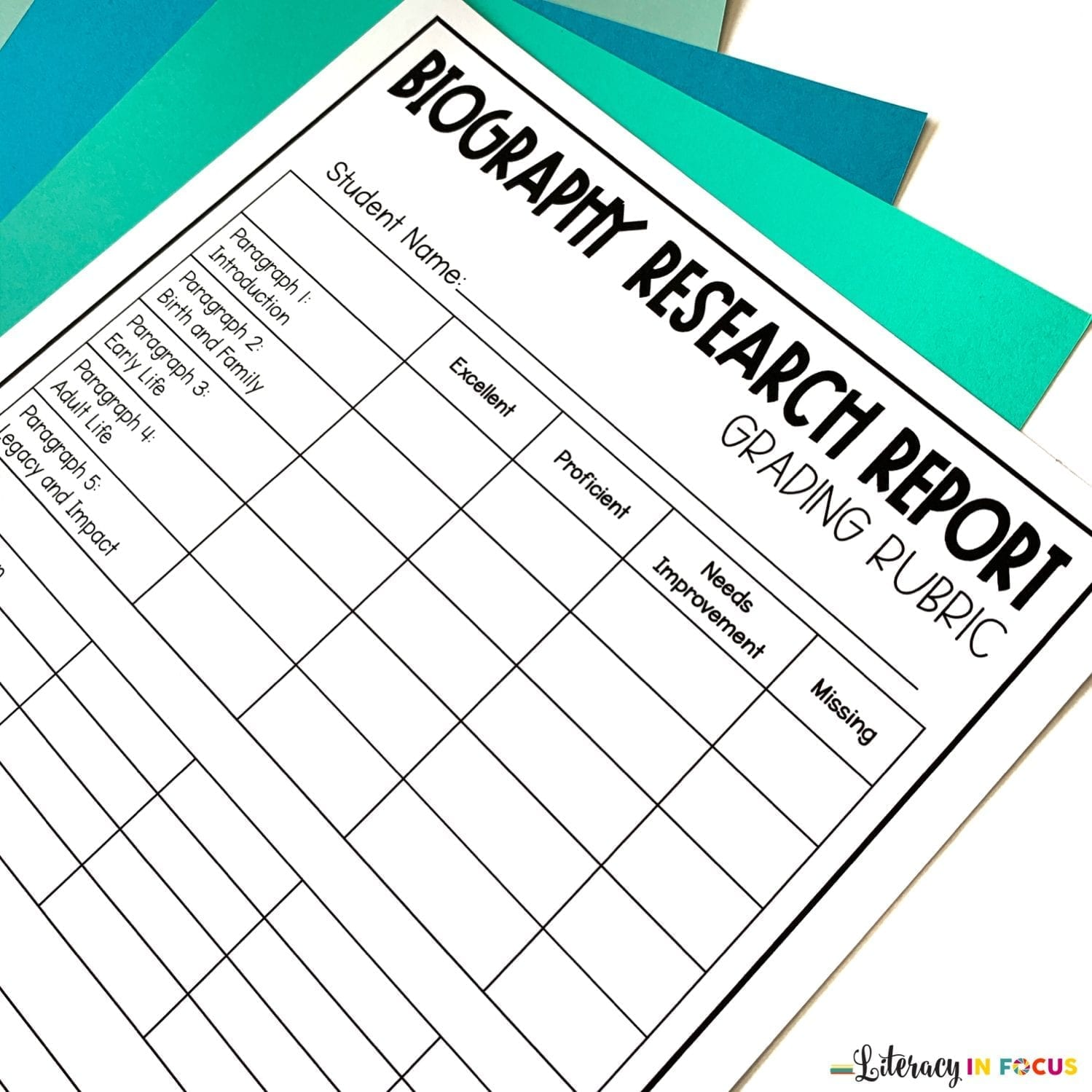 Biography Research Rubric