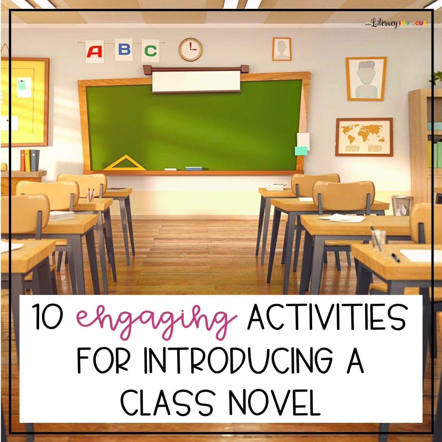 Activities for Introducing a Class Novel