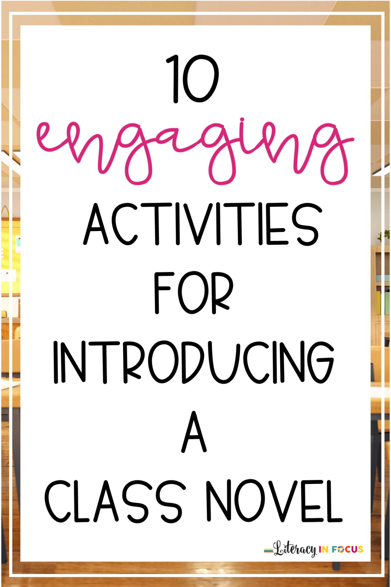 Ideas for Introducing a Class Novel