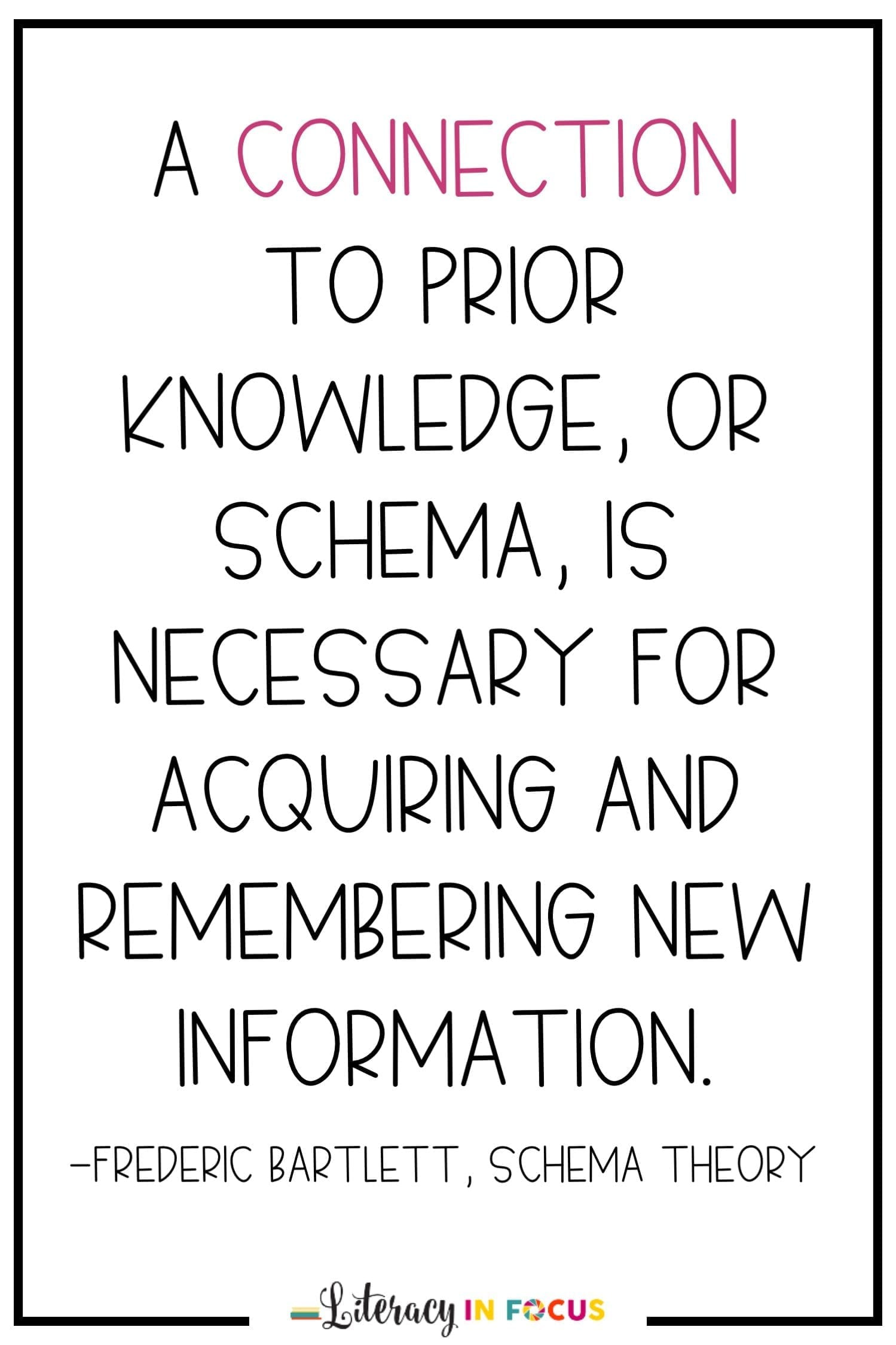Schema theory in the classroom