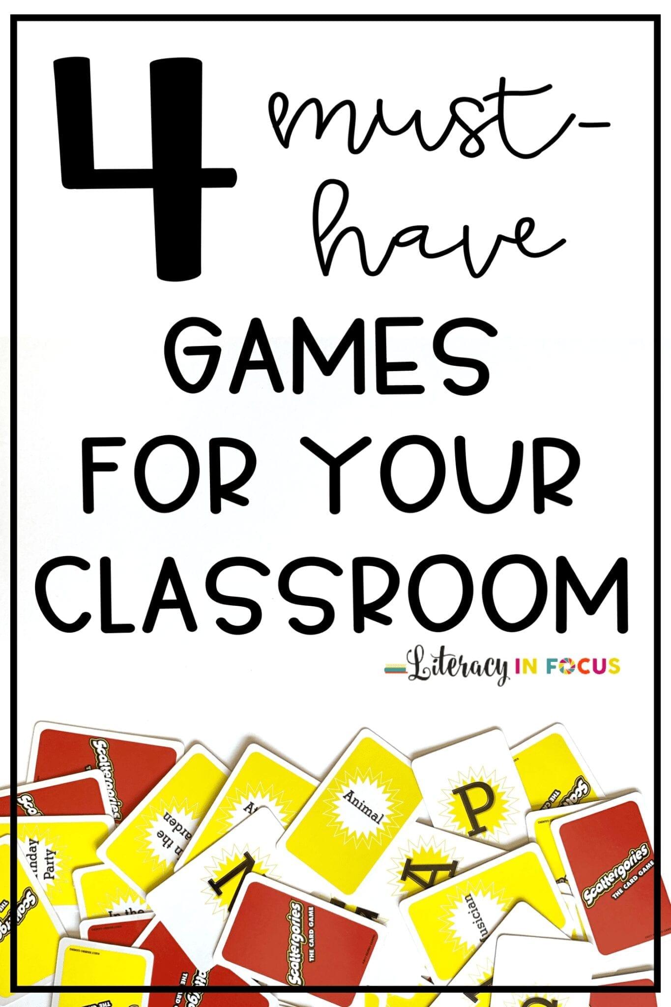Classroom Vocabulary Games