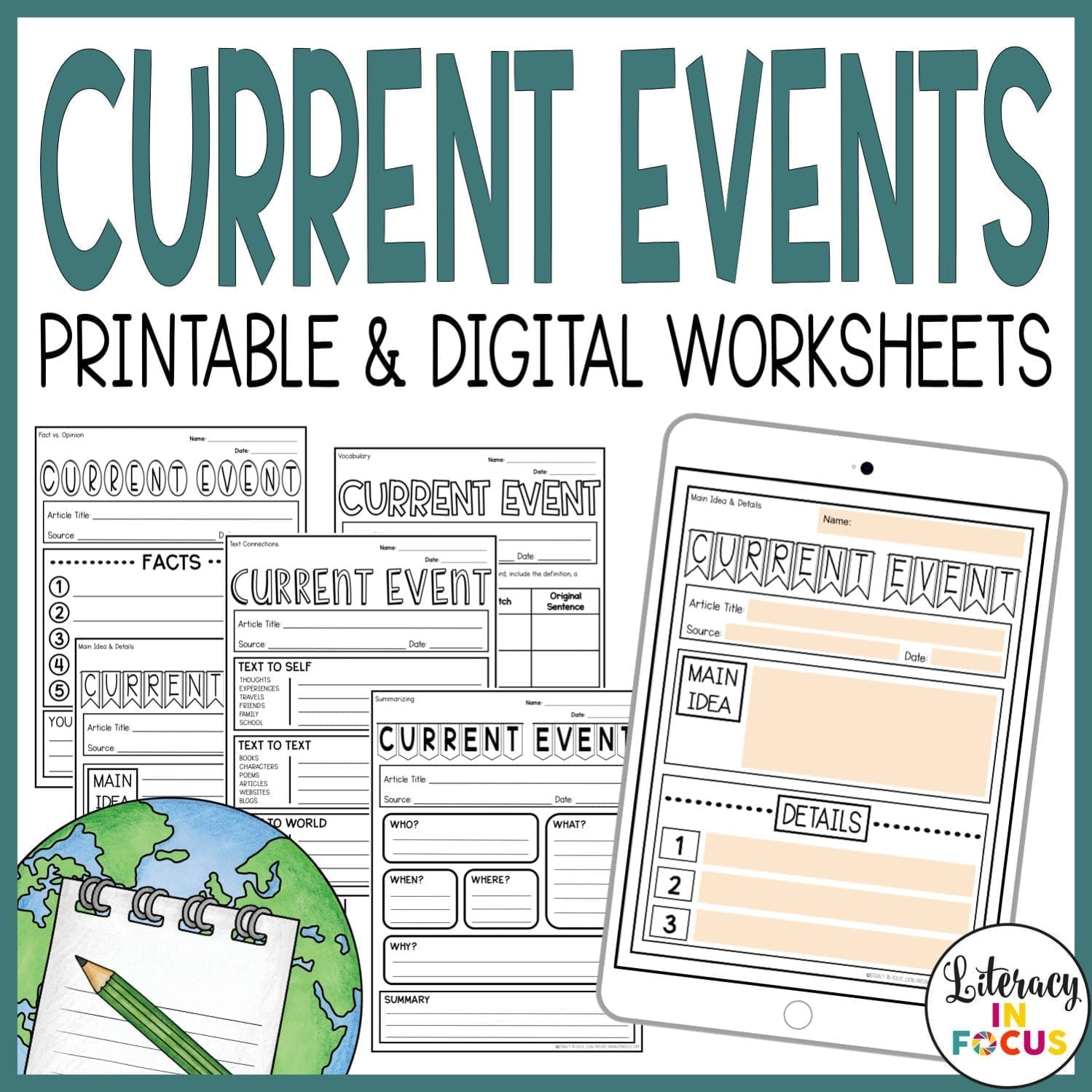 Current Event Worksheets
