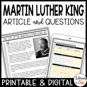 Martin Luther King Close Reading
