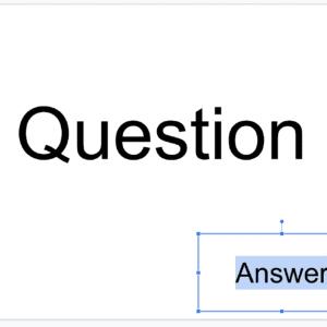 Digital Flashcards Answer Box