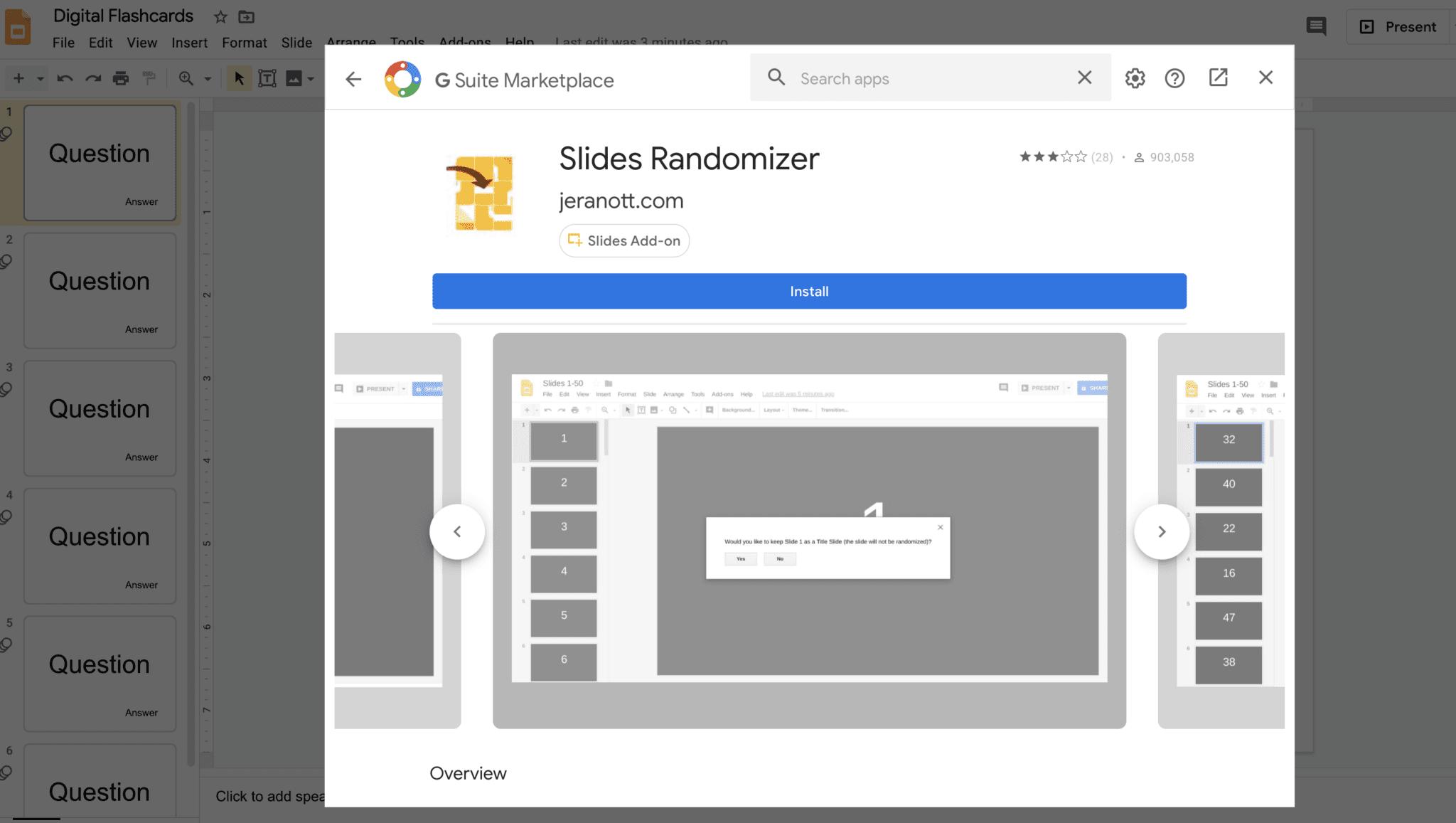 Slides Randomizer Digital Flashcards