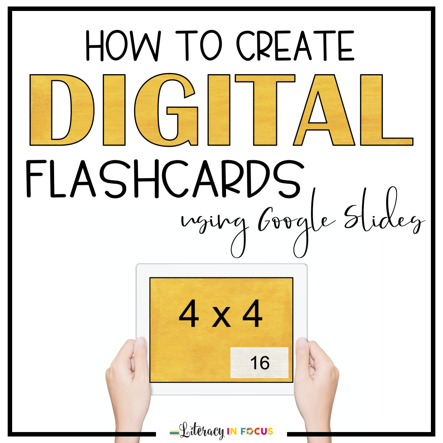 Digital Flashcards Steps