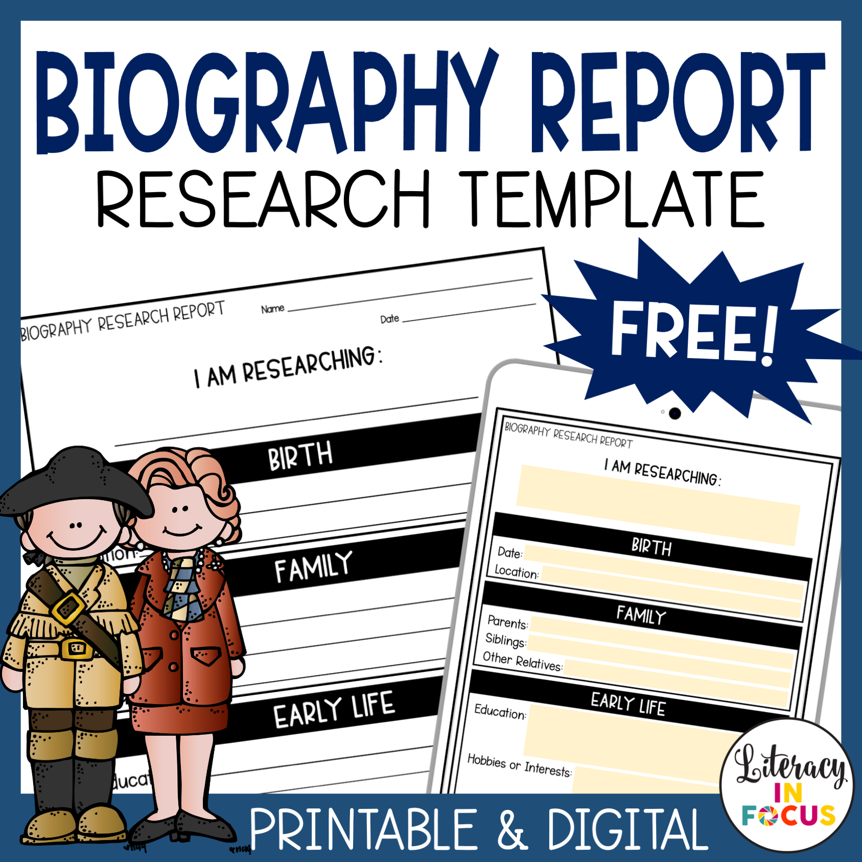 Free Biography Research Template
