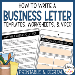 Business Letter Lesson Plan and Video