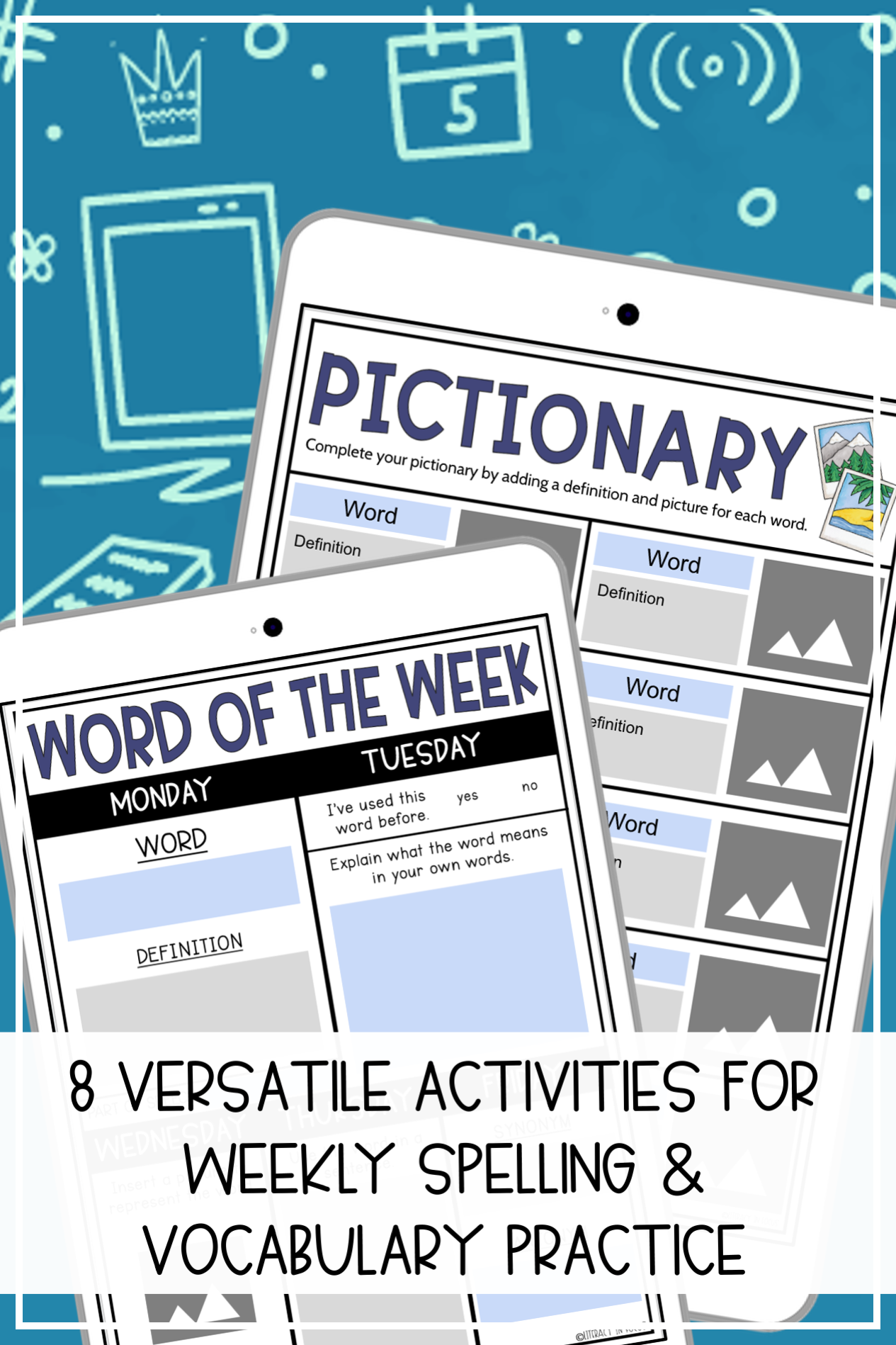 Weekly Spelling Activity Ideas