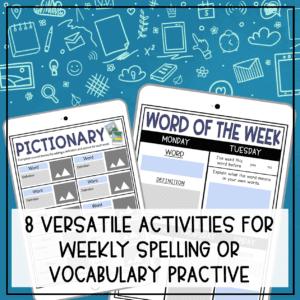 Weekly Vocabulary Activities